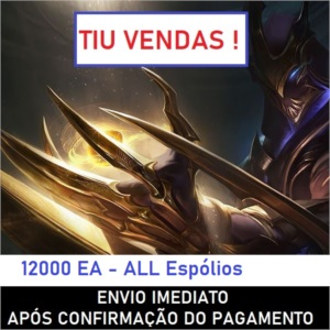 CONTA LOL - UNRANKED LEVEL 20 • TODOS ESPÓLIOS + 10000 EA