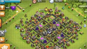 Clash of clans - Cv 9 full 4000 gemas