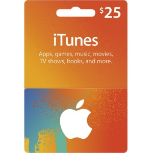 Conta Apple Americana com $25 Dólares iTunes Gift Card