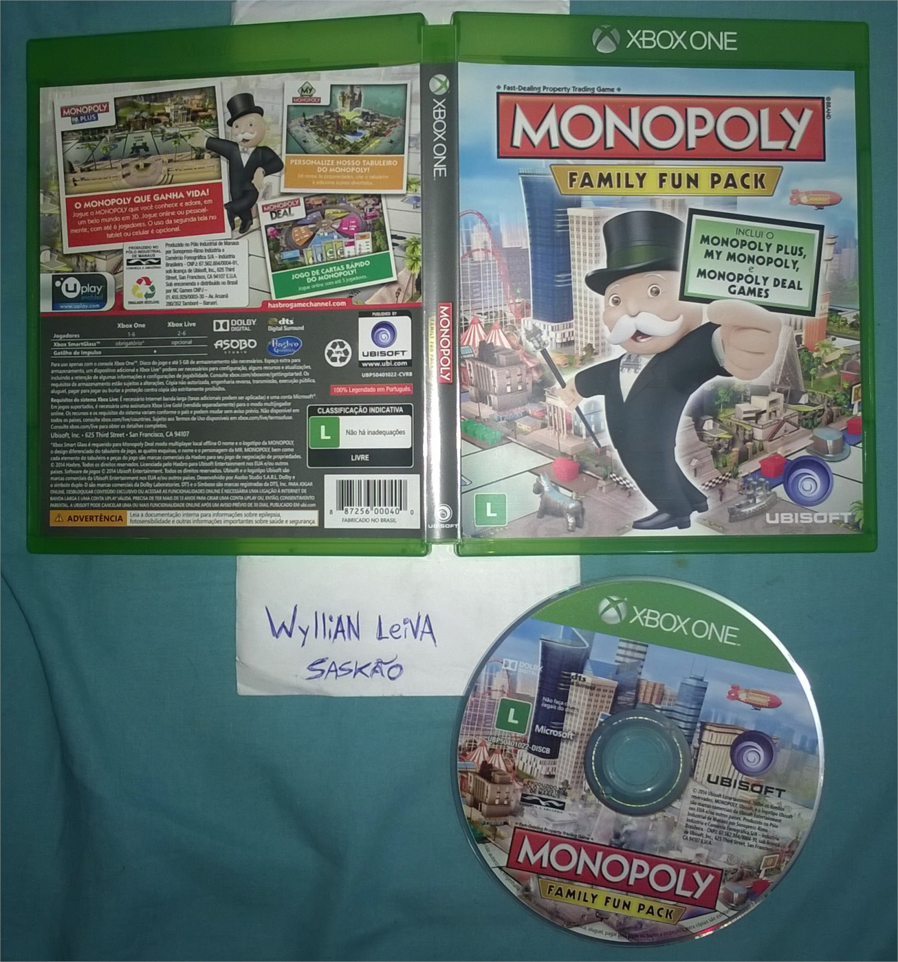 3 in 1 Monopoly Familiy Fun Pack - Xbox ONE