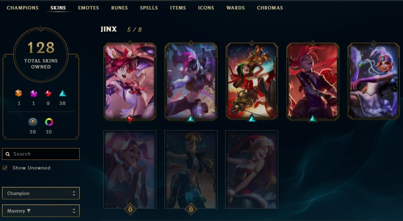 Conta League of Legends Gold 3 - Mais de 2000 Reais em Skins