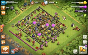 Vende-se conta do Clash of Clama semi full Cv 11