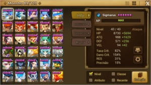 Conta Summoners War 7 nat 5*