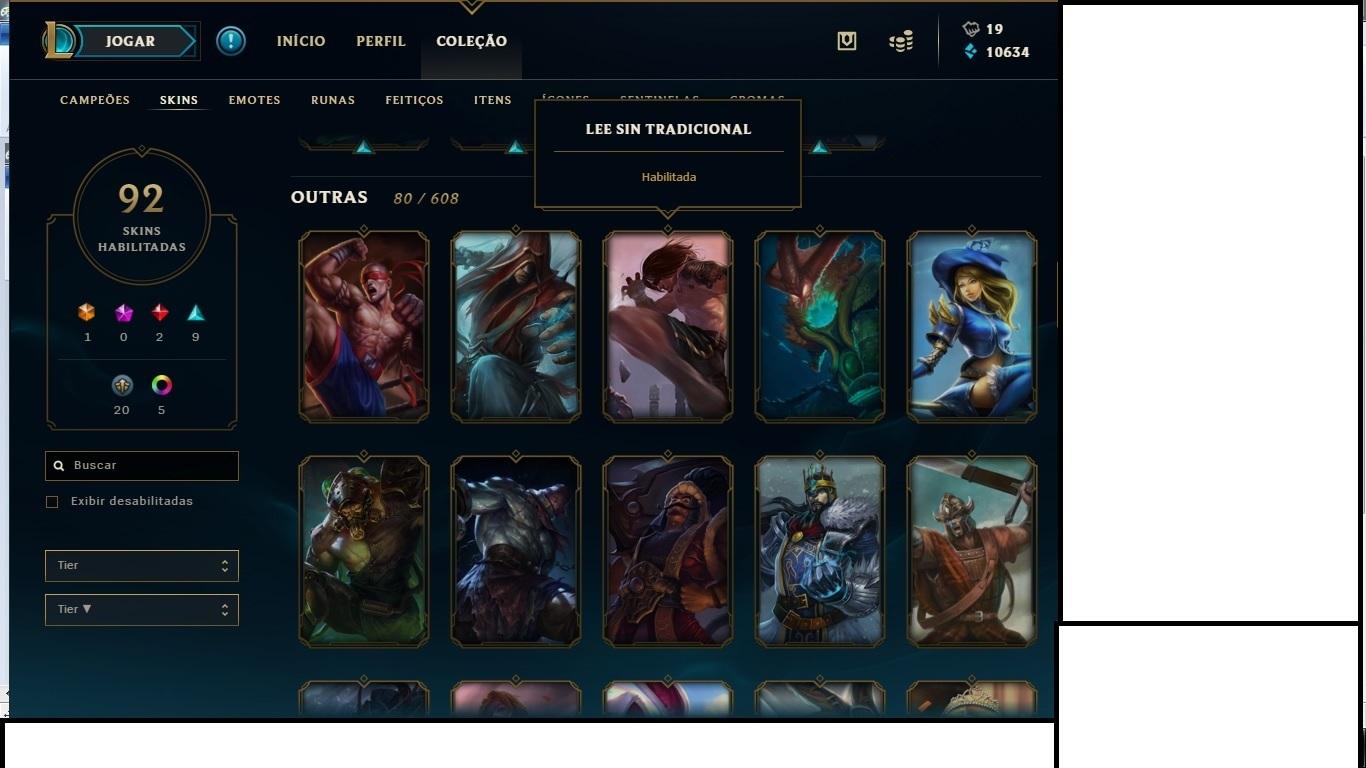 League Of Legends Conta Completa Level 54 92 Skins Elo Atual