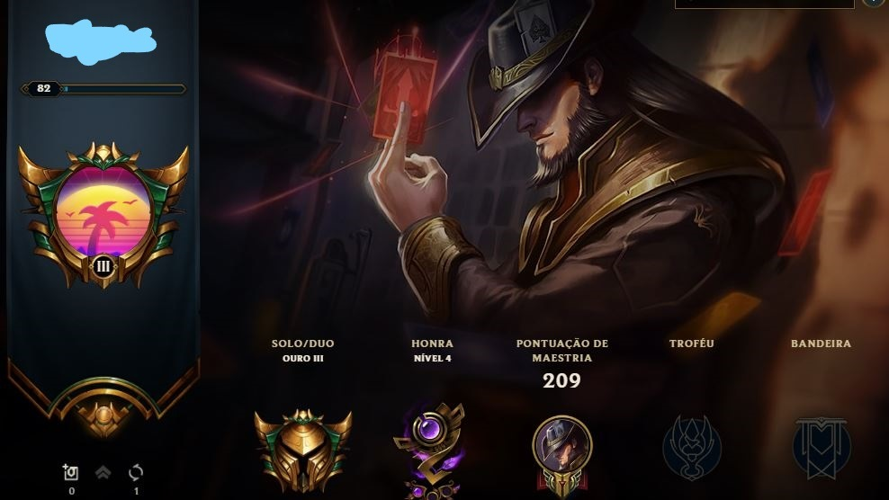 Conta Lvl 80 League of Legends Honra 4 Gold