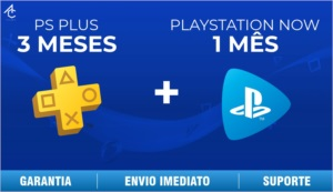 PSN PLUS 3 MESÊS + PLAYSTATION NOW 1 MÊS - PS4