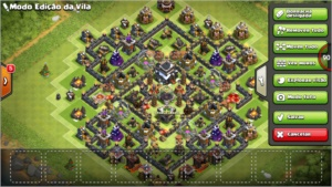 clash of clans centro de vila 9 full