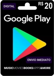 Gift card Google Playstore R$ 20 Reais