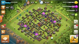 Conta CLASH OF CLANS CV 10 - LVL 115