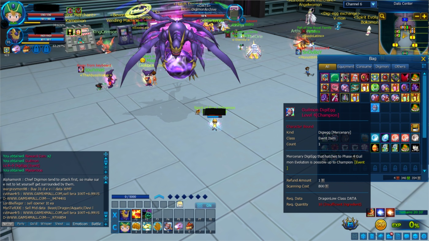 DIGIMON MASTER CONTA SERVER LEVIAMON