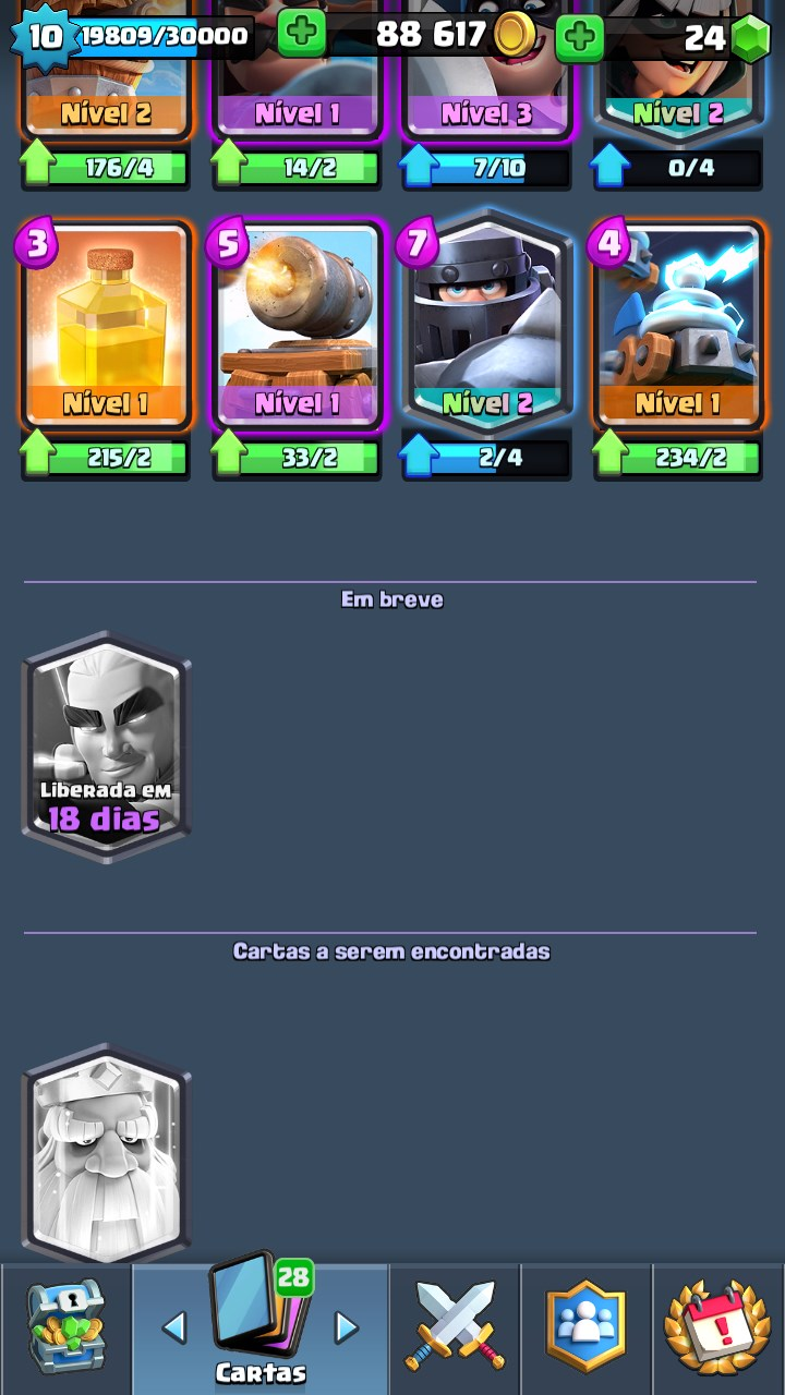 CONTA CLASH ROYALE NV 10 - 4000+ TROFEUS