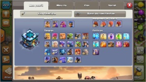Conta Clash of clans CV13 Full