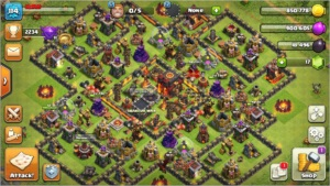 Vila Clash of clans CV10