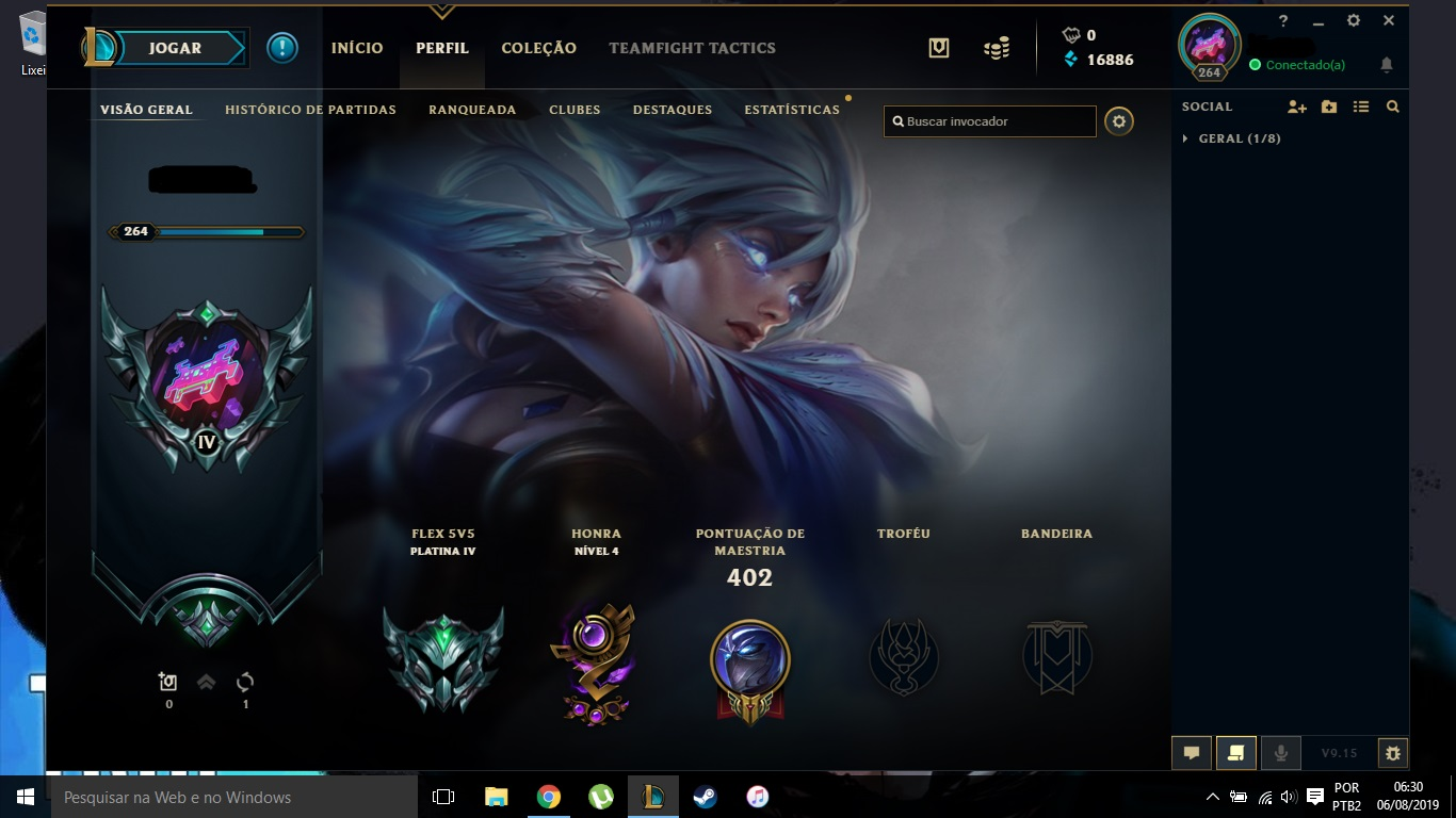 League Of Legends Conta Platina Lol Dfg