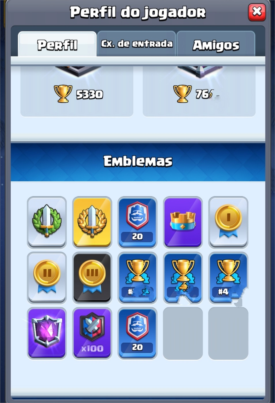 Clash Royale Full Perfil CRL