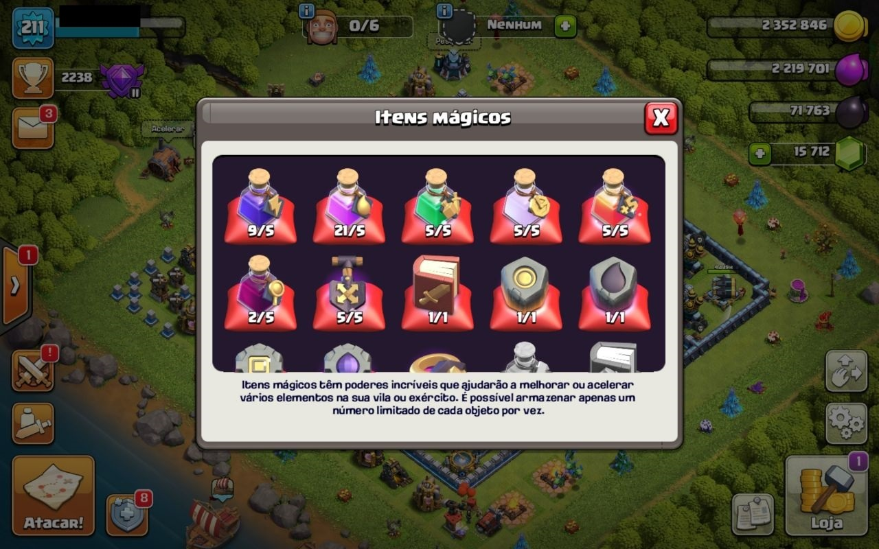 CLASH OF CLANS CV13 FULL + 15000 GEMAS