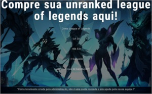Conta league of legends lvl 30 unranked