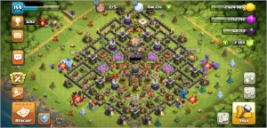 CLASH OF CLANS CV11 TOP + 2700 GEMAS