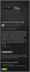 Sawed-Off | Amber Fade - CSGO