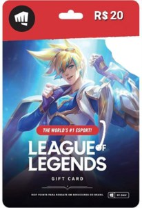 GIFD CARD LEAGUE OF LEGENDS 480 RIOT POINTS