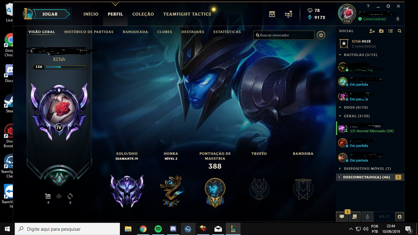 Conta League of Legends Diamante 4