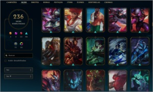 Conta LOL - Diamante 4/236 Skins/Todos os Champs