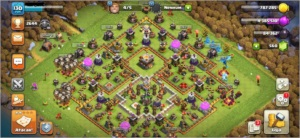 CV11 SEMI FULL CLASH OF CLANS COC TH11 BEM UPADA 7 SKINS