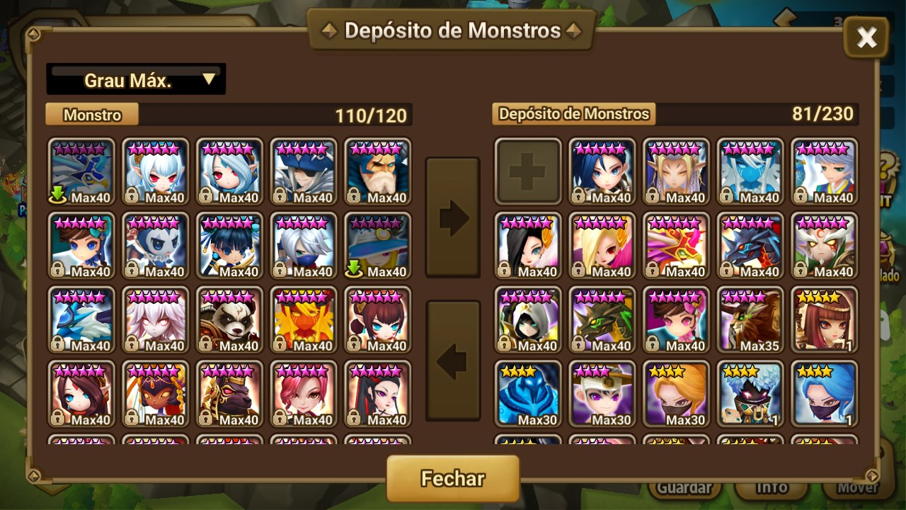Conta de Summoners Wars
