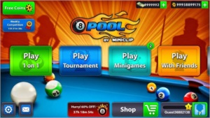 Fichas no 8 ball pool