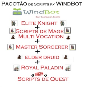 Scripts Pagos de WindBot (Todas as Vocações)  + NAVIGATION
