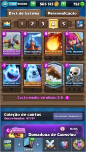 LEVEL 12 + FULL DECK + TODAS CARTAS + 600K GOLD + 750 GEMAS