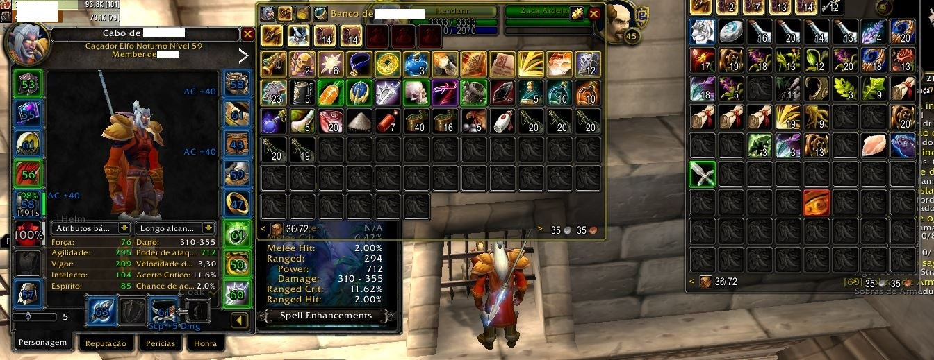 CONTA WOW CLASSIC THALNOS ALLY 2 CHAR LVL 60 FULL