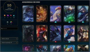 Contas League of Legends: Platina 3 + Skins