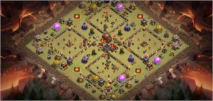 Clash of clans cv 10 90% full