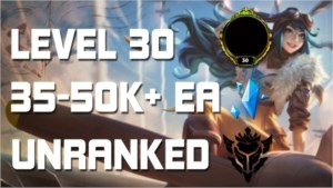 CONTA DE LOL LEVEL 30, UNRANKED, 40K+ EA, UNVERIFIED