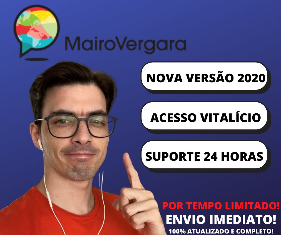 Cursos e Treinamentos - INGLES 2020 - MAIRO VERGARA 4.0 ...