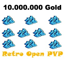10.000.000 Gold  - Tibia  - Retro Open PvP