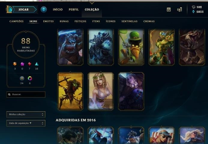conta de league of legends