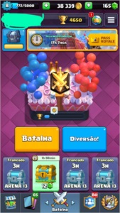 Conta Clash Royale level 8, 4650 troféus