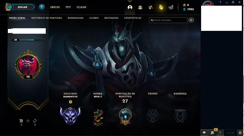 CONTA LEAGUE OF LEGENDS DIAMANTE 3