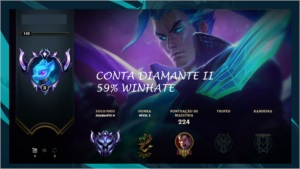 Conta Diamante 2 60% winhate