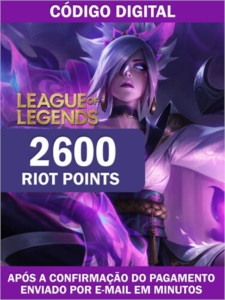 2600 RIOT POINTS - LOL BR