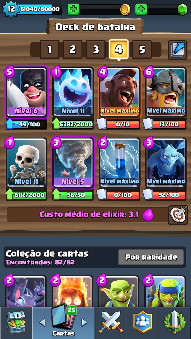 Clash Royale Conta lvl 12 - 4300 Troféus - Todas as cartas