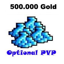 500.000 Gold  - Tibia  - Optional PvP