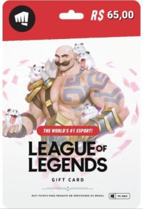 GIFD CARD LEAGUE OF LEGENDS 2800 RIOT POINTS