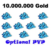 10.000.000 Gold  - Tibia  - Optional PvP