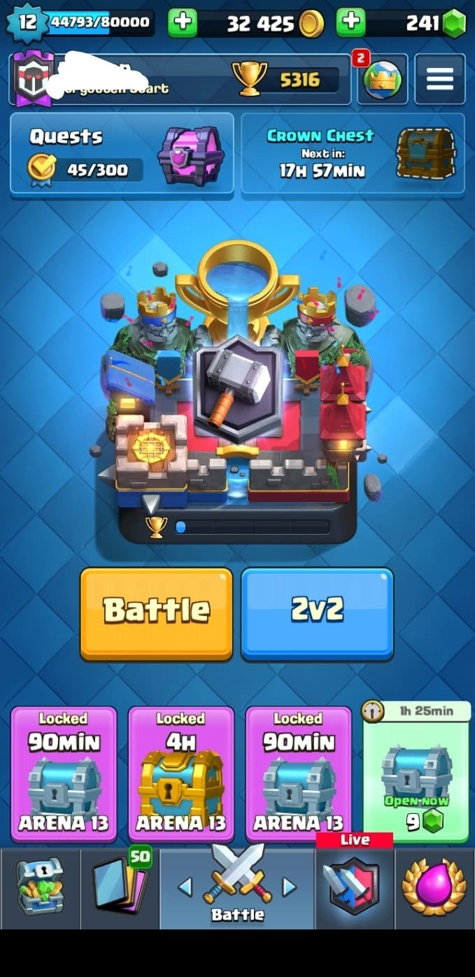 Clash Royale Xp 12 5316 Trophies All Cards Android