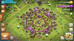 CONTA CLASH OF CLANS CV 8 QUASE FULL NIVEL 87
