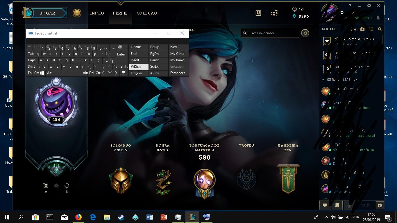 League Of Legends Conta De Lol Elo Passado Plat Soloq 180