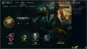 Up conta league of legends
